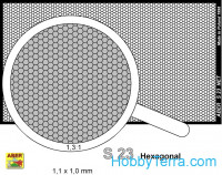 Nets interlace look and hexagonal (80x45mm) 1,1x1,0mm