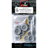 Wheels set 1/72 for B-36 Peacemaker wheels w/ weighted tires & optional nose wheels
