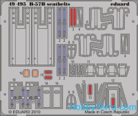 Photo-etched set 1/48 B-57B seatbelts, for Airfix kit
