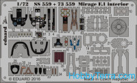 Photo-etched set 1/72 Mirage F.1, for Special Hobby kit