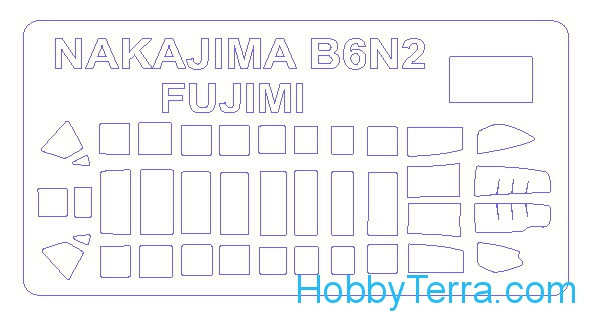 Mask 1/72 for Nakajima B-6N2 late type / Tenzan / Jill type 11 and 12, for Fujimi kit