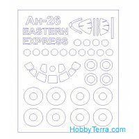 Mask 1/144 for An-26 / An-32 and wheels masks for Eastern Express kit