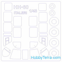Mask 1/48 for HH-60 / HH-60H Seahawk and wheels, for Italeri kit