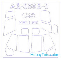 Mask 1/48 for helicopter AS 350 B3
