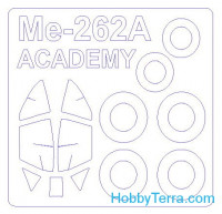 Mask 1/72 for Me-262A-1a + wheels, for Academy kit