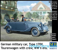 German military car, Type 170V Tourenwagen with crew WWII