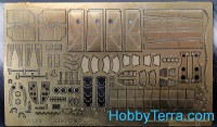 Photo-etched set 1/48 Ju-88. Exterior, for ICM kit