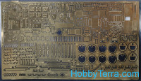 Photo-etched set 1/48 Ju-88. Interior, for ICM kit
