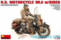 U.S.Motorcycle WLA with rider