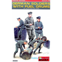 German soldiers with fuel drums. Special edition