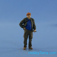 Resin figure of mechanic (driver), type 4