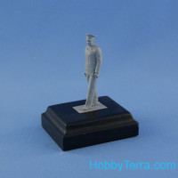 Yuri Gagarin. Resin figure with wooden base