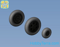 Wheels set 1/48 for Focke-Wulf 190 A/F/G early (with hole) disk with early main tire (tread)