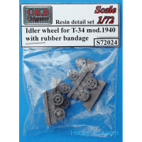 Steering wheels 1/72 for T-34 mod.1940, with rubber bandage