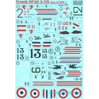 Decal 1/72 for French SPAD S.VII