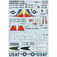 Decal 1/72 for Lockheed T-33