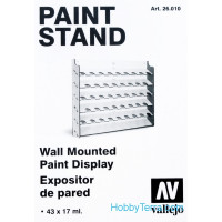 Paint stand. Wall Mounted Paint Display, 43x17ml
