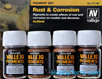 Pigments Set. Rust & Corrosion, 4pcs