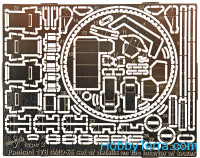 Photo-etched set 1/35 Panhard 178AMD-35, interior type 2, for ICM kit